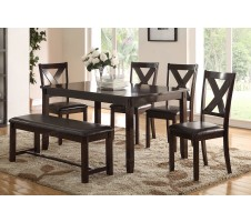 Dakota 6pc. Dining set with Bench