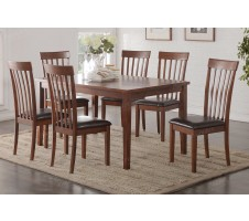 Anette 7pc Dining Set in cherry finish