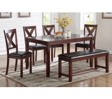 Dakota 6pc. Dining Set with Bench in Cherry