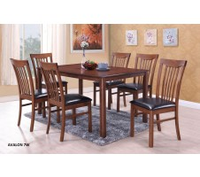 Avalon 7pc. Dining Set in walnut