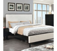 Lennard Queen Bed Frame with black trim