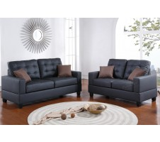 ON SALE! Aria 2pc Sofa and Loveseat in Black