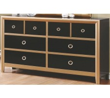 Zovatto Dresser in Black and Gold Finish