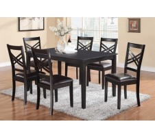 Onyx 7pc Dining Set in black finish