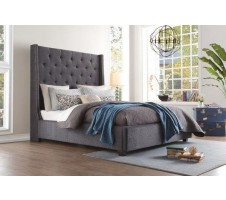 Elsie Queen Platform Bed Frame in Grey