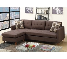 Belgrade Reversible Sectional in Brown