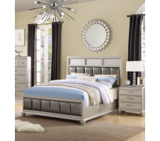 Rosini Queen Bed in Silver