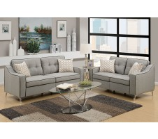 SALE! Connar 2pc. Sofa and Loveseat with Accent Pillows in Grey