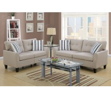 Casey 2pc. Sofa and Loveseat Set in Beige