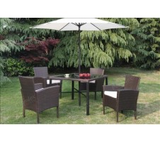 Riviera 6pc Patio Dining Set with Umbrella