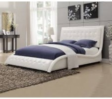 Tully Queen Bed Frmae in white