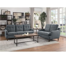 1219GY Cagle 2pc Sofa & Loveseat Set