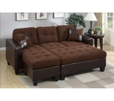 Olympic Sectional and ottoman - 2 tone
