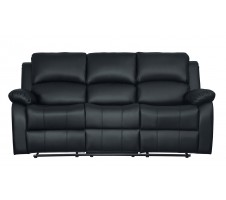 SALE! 9928BLK-3 Clarkdale Double Reclining Sofa With Center Drop-Down Cup Holders