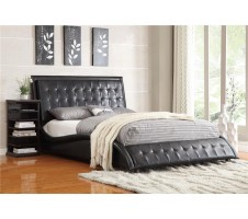 Tully Queen Bed Frame in black