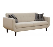 Bordet Mid Century Modern Sofa in ivory