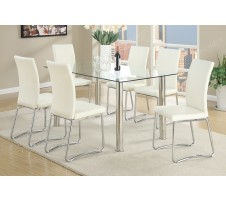 Vexus 7 Piece Dining Set in white