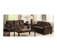 Alexis Sofa and Loveseat in chocolate