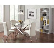 Lux 5pc. Modern Dining Set