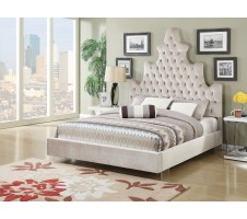 Caroline Queen Plush High Headboard Tufted Bed Frame