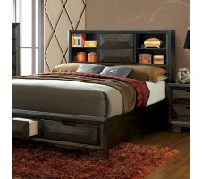 NIKOMEDES QUEEN PLATFORM BED FRAME WITH DRAWERS