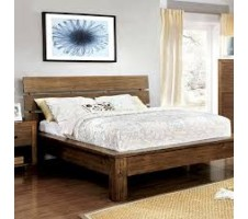 Roraima Queen Platform Bed in Reclaimed Pine