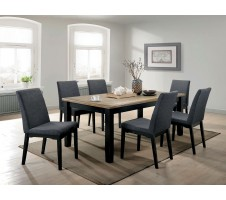 SALE! Mariam Dining Set in Brushed Oak and Black Finish