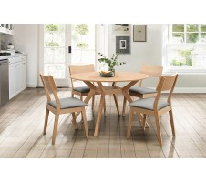 Hamar 5pc. Dining Set in Natural Finish