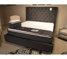 5877GY Queen Bed Frame