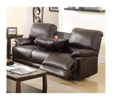 Foster Reclining Dual Sofa with Drop Down Console
