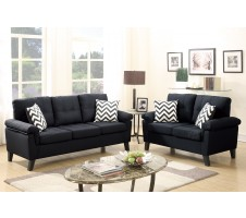 Tyler Sofa and Loveseat in black