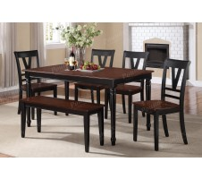 Bourdet 6pc dining set with bench