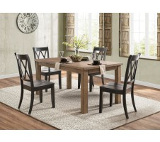 Janina 5pc. Dining Set with Black Chairs