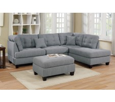 Laurel 2pc. Sectional & Ottoman - Reversible