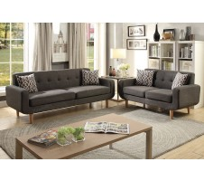 SALE! Montreal 2 Piece Sofa and Loveseat with Accent Pillows