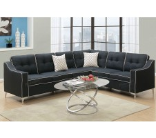 Connar 4pc. Sectional in Black
