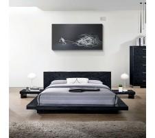 Christie Queen Platform Bed Black