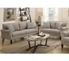 SALE! CARMON 2PC SOFA SET in SAND