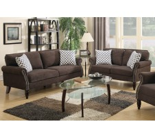 SALE! CARMON 2PC SOFA SET in DARK BROWN