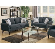 SALE! Carmon 2pc.  Sofa and Loveseat in Slate