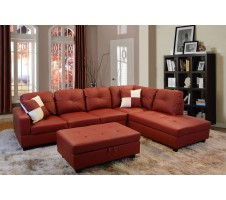 Beverly Sectional & Storage Ottoman