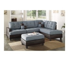 Esofastore 3pc. Sectional with Ottoman