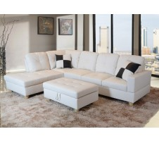 Beverly Sectional and Storage ottoman