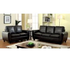 2pc. Jamell Sofa and Loveseat - black