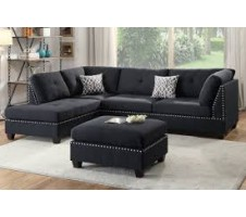 Collette 2pc Reversible Sectional and Ottoman
