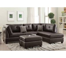 SALE! Collette 2pc reversible Sectional and Ottoman in espresso
