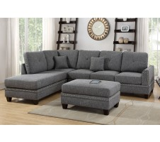 Lisbore 2pc. Sectional  Ash Grey