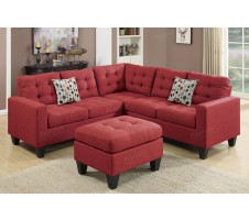 SALE! Peta 4pc. Modudar Sectional in carmine