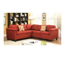 Cleavon Sectional in red