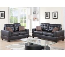 Aria 2pc. Sofa and Loveseat in espresso